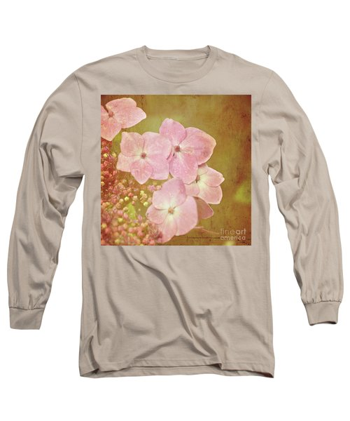 Long Sleeve T-Shirt featuring the photograph Pink Hydrangeas by Lyn Randle
