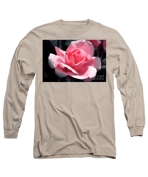 Pink In Light And Shadow Long Sleeve T-Shirt by Rebecca Davis
