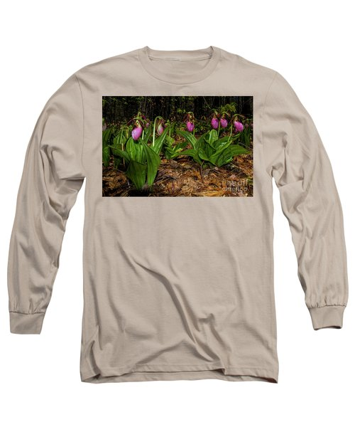 Pink Ladies Slipper Patch Long Sleeve T-Shirt