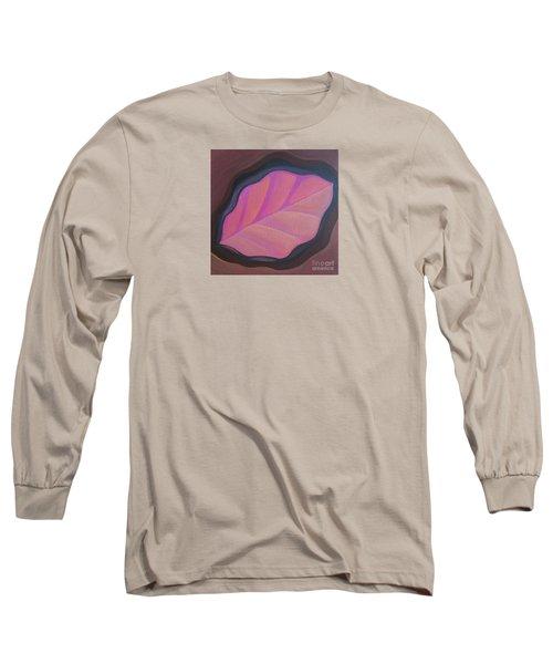 Pink Leaf Long Sleeve T-Shirt