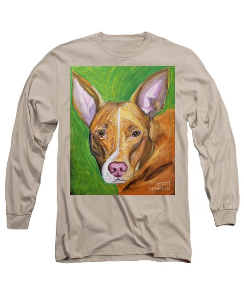 Long Sleeve T-Shirt featuring the painting Pink Nose by Ania M Milo