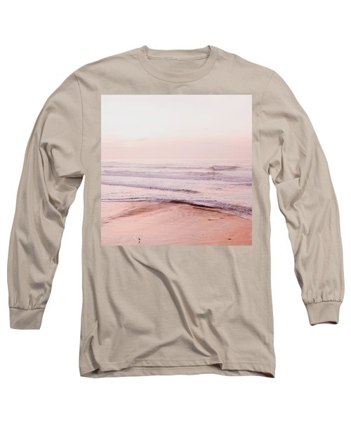 Pink Pacific Beach Long Sleeve T-Shirt by Bonnie Bruno
