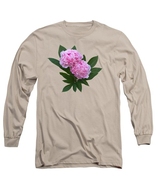 Long Sleeve T-Shirt featuring the photograph Pink Peonies by Jane McIlroy