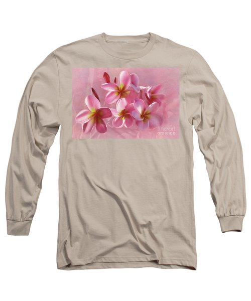 Long Sleeve T-Shirt featuring the photograph Pink Plumeria Pastel By Kaye Menner by Kaye Menner