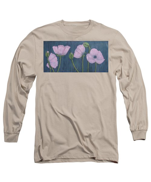 Pink Poppies Long Sleeve T-Shirt