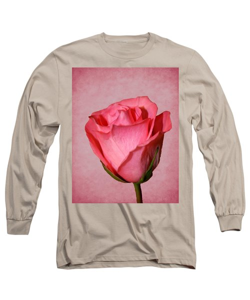 Long Sleeve T-Shirt featuring the photograph Pink Rose by Judy Vincent