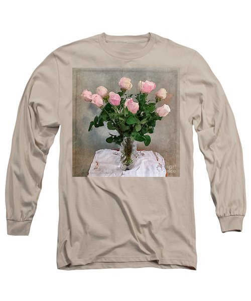 Pink Roses Long Sleeve T-Shirt by Alexis Rotella