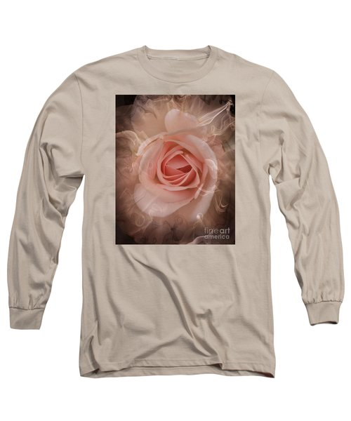 Pink Smokey Long Sleeve T-Shirt by Clare Bevan