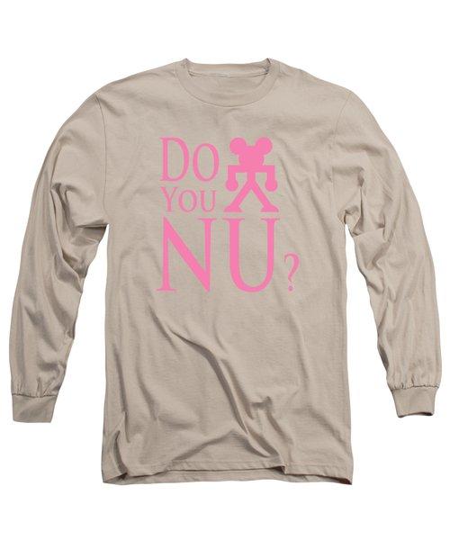 Pink Txt Long Sleeve T-Shirt