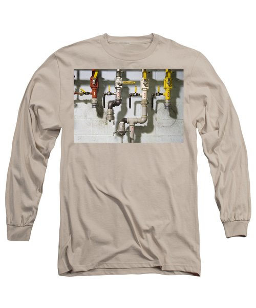 Pipes And Valves Long Sleeve T-Shirt by Alexey Stiop