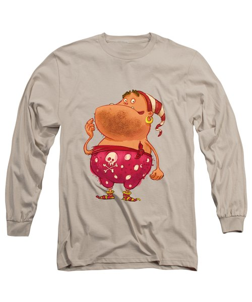Pirate Thug Long Sleeve T-Shirt by Andy Catling