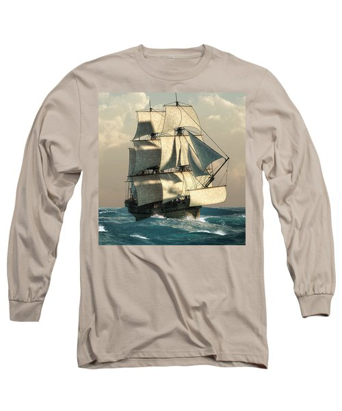 Pirates On The High Seas Long Sleeve T-Shirt