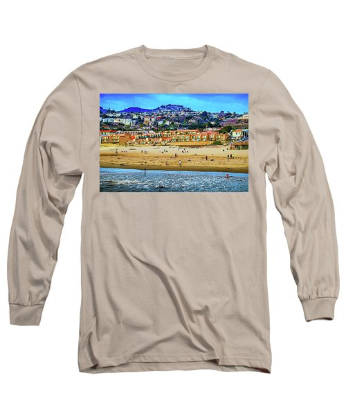 Long Sleeve T-Shirt featuring the photograph Pismo Hilltop Ocean View by Joseph Hollingsworth