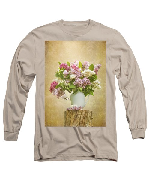 Pitcher Of Lilacs Long Sleeve T-Shirt by Patti Deters
