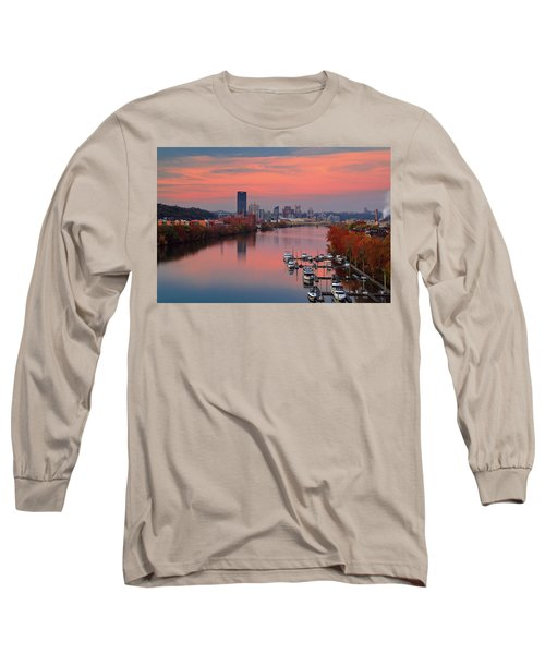 Pittsburgh 31st Street Bridge  Long Sleeve T-Shirt by Emmanuel Panagiotakis