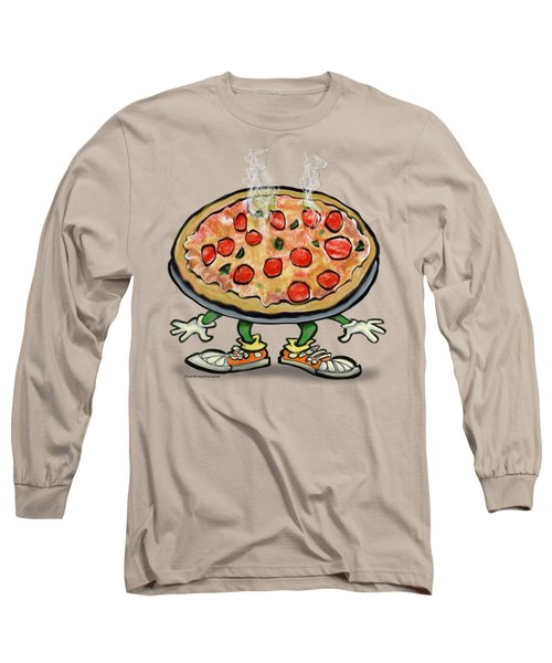 Pizza Long Sleeve T-Shirt by Kevin Middleton