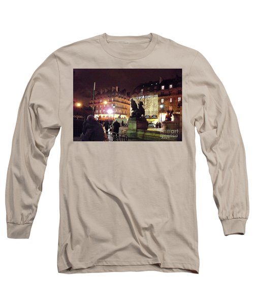 Place Saint-michel Long Sleeve T-Shirt by Felipe Adan Lerma