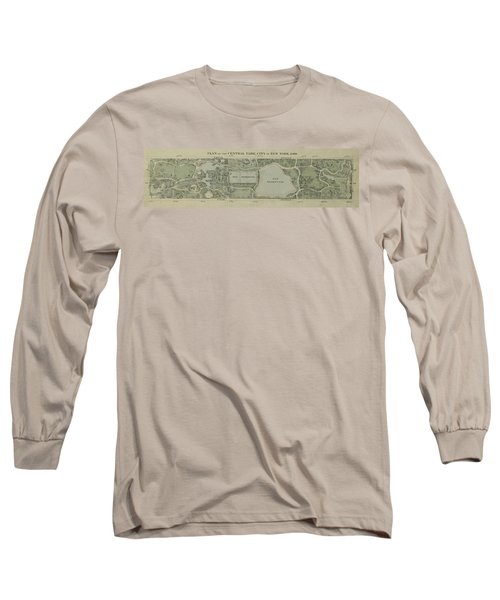 Long Sleeve T-Shirt featuring the photograph Plan Of Central Park City Of New York 1860 by Duncan Pearson