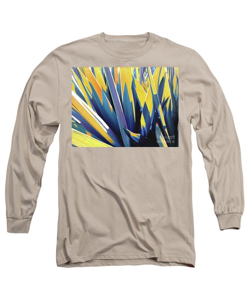 Long Sleeve T-Shirt featuring the photograph Plant Burst - Yellow by Rebecca Harman