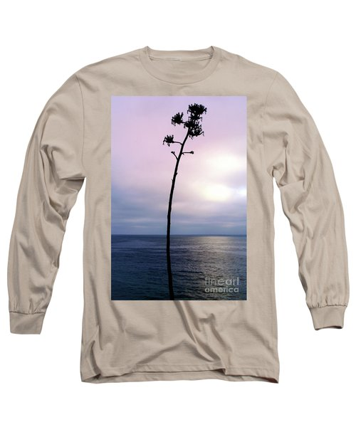 Long Sleeve T-Shirt featuring the photograph Plant Silhouette Over Ocean by Mariola Bitner