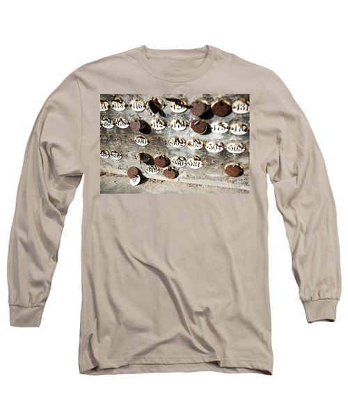 Plates With Numbers Long Sleeve T-Shirt by Carlos Caetano