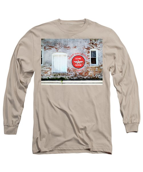 Long Sleeve T-Shirt featuring the digital art Play Ball With Flying A by Sandy MacGowan