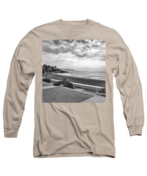 Playa Burriana, Nerja Long Sleeve T-Shirt by John Edwards