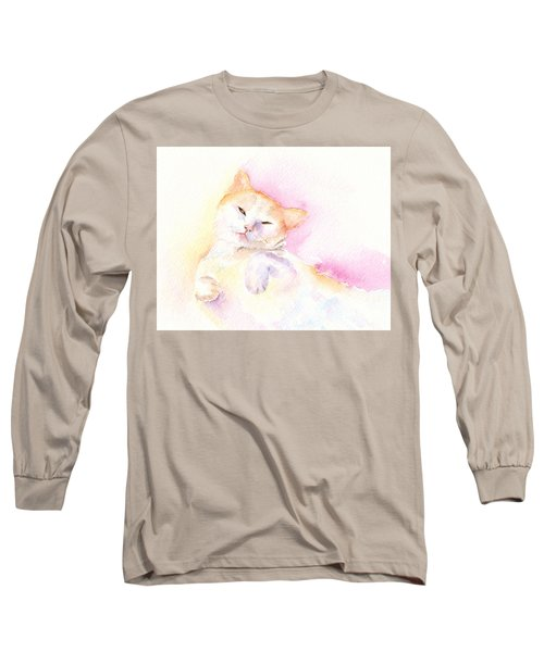 Playful Cat II Long Sleeve T-Shirt by Elizabeth Lock