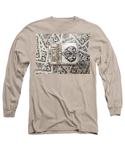 Playing Cards Long Sleeve T-Shirt by Sheila Mcdonald