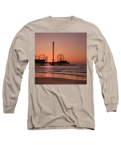 Pleasure Pier At Sunrise Long Sleeve T-Shirt