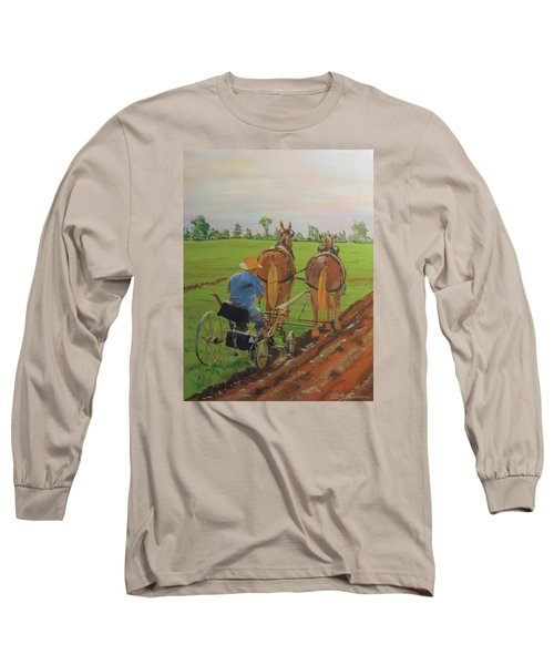 Plowing Match Long Sleeve T-Shirt by David Gilmore