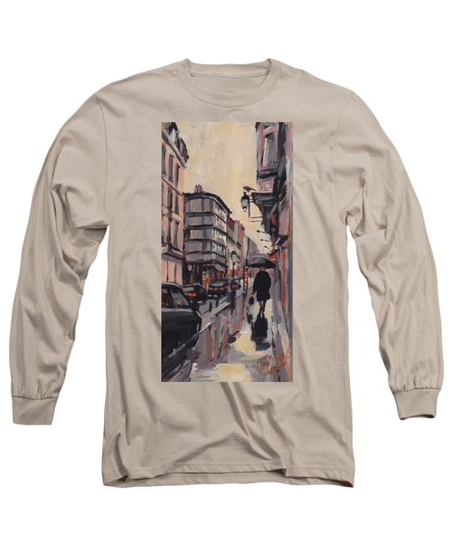 Pluie Rue De Regence Liege Long Sleeve T-Shirt