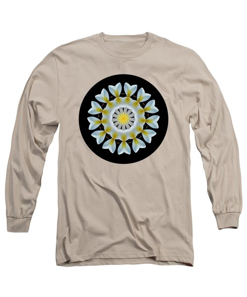Long Sleeve T-Shirt featuring the photograph Plumeria Mandala By Kaye Menner by Kaye Menner