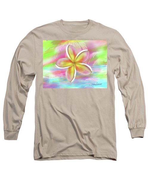 Plumeria Paradise Long Sleeve T-Shirt by Dani Abbott