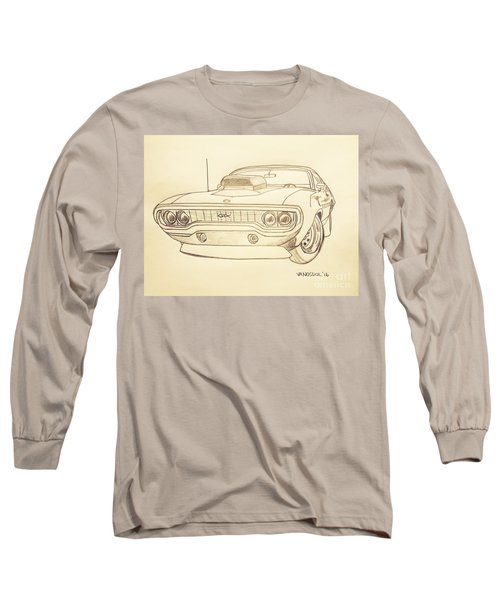 Plymouth Gtx American Muscle Car - Antique  Long Sleeve T-Shirt