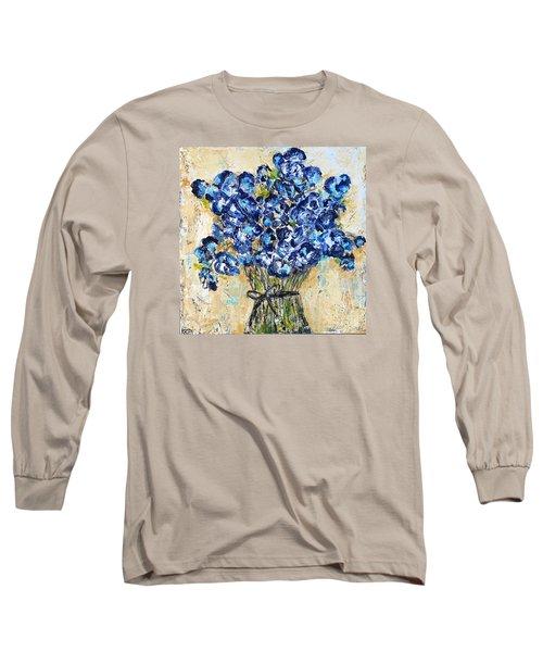 Pocket Full Of Posies Long Sleeve T-Shirt by Kirsten Reed