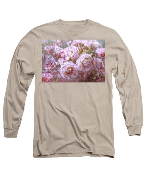 Pocket Full Of Roses Long Sleeve T-Shirt by Kari Nanstad
