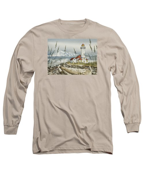 Point Wilson Lighthouse Long Sleeve T-Shirt by James Williamson