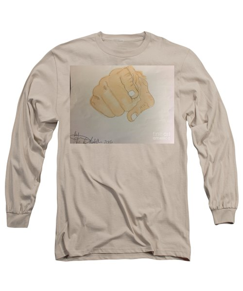 Pointing Finger Long Sleeve T-Shirt