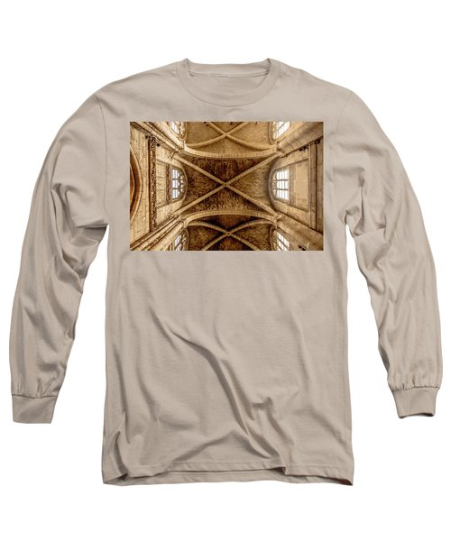 Poissy, France - Ceiling, Notre-dame De Poissy Long Sleeve T-Shirt