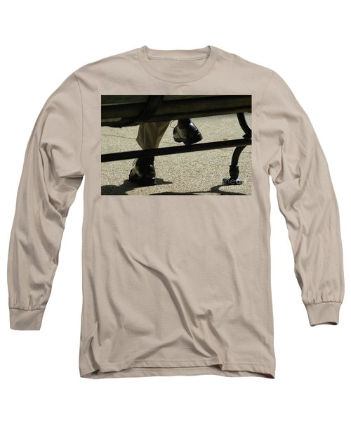 Polished Shoes On Bench Long Sleeve T-Shirt