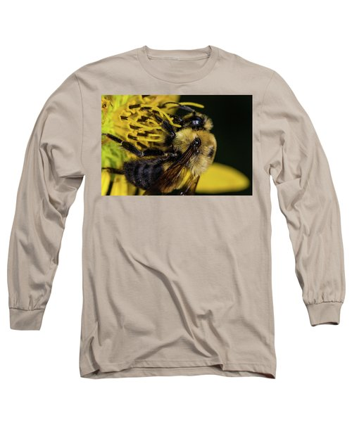 Long Sleeve T-Shirt featuring the photograph Pollen Collector  by Jay Stockhaus