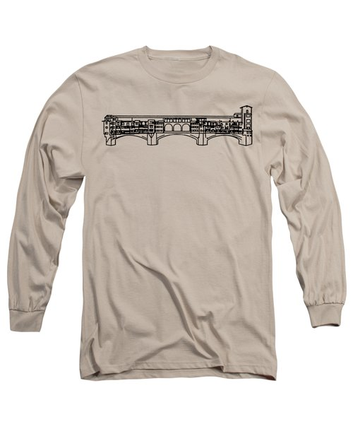 Ponte Vecchio Florence Tee Long Sleeve T-Shirt by Edward Fielding