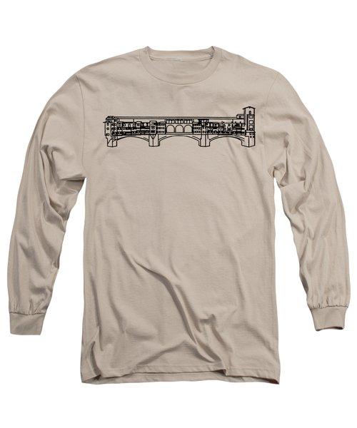 Ponte Vecchio Florence Tee Long Sleeve T-Shirt