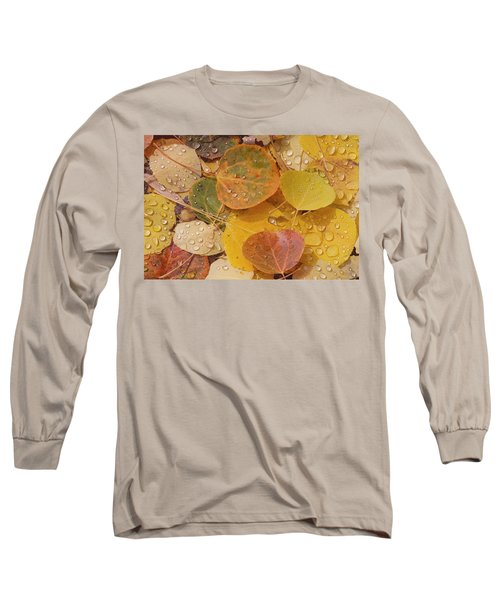 Pool With Aspen Leaves Long Sleeve T-Shirt