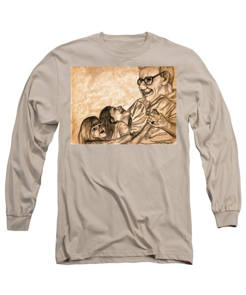 Pop And Us Long Sleeve T-Shirt by Angela Murray
