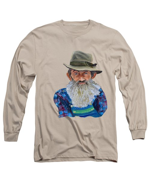 Popcorn Sutton Rocket Fuel- Transparent For T-shirt Long Sleeve T-Shirt by Jan Dappen