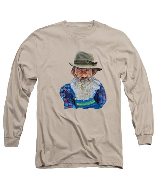 Popcorn Sutton Rocket Fuel- Transparent For T-shirt Long Sleeve T-Shirt