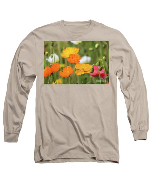 Long Sleeve T-Shirt featuring the photograph  Poppies 1 by Werner Padarin