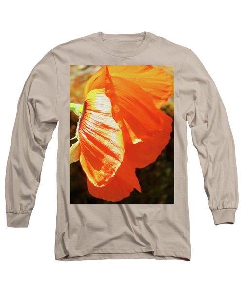 Poppy Profile - Beauty In The Garden Long Sleeve T-Shirt by Brooks Garten Hauschild